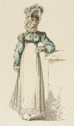 Spencer (clothing) - Image: Fashion Plate (Promenade Dress) LACMA M.83.161.191