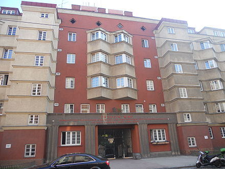 One of the many apartment buildings built in Red Vienna