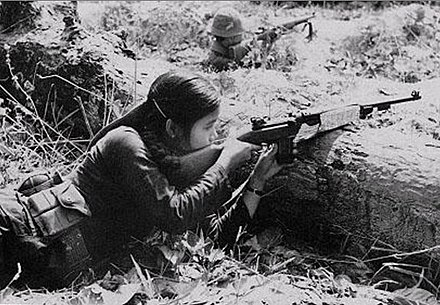 Female Viet Cong guerrilla in combat Female Vietcong Guerrilla.jpg