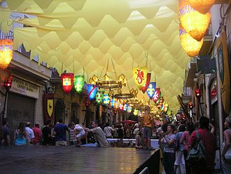 Gràcia - A typical street display during the Festa Major in Gràcia