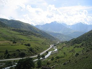 Fiagdon River - Fiagdon River in Kurtat valley