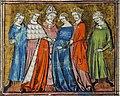 Fiançailles d'Arthur et Guenièvre par l'évêque de Thoraise (cropped).jpg