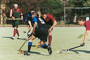 Hockey - Field hockey game at Melbourne University.