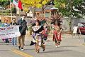 Fiestas Patrias Parade, South Park, Seattle, 2015 - 191 - Sea Mar Yelm Clinic & 'Aztec' dancers (21401266560).jpg