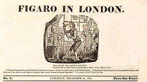 Figaro in London - The standard format heading of Figaro in London designed by Robert Seymour