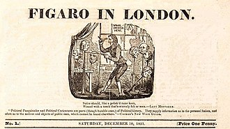 Figaro in London - The standard format heading of Figaro in London designed by Robert Seymour