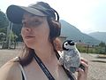 Fiona Apps or User Panyd with 'Mr Penguin' at Wikimania 2016.jpg