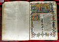 Firenze, commedia di dante, codice miniato da Simone Camaldolese e aiuti, purgatorio canto I, 1398, tempi 1, c. 32r, 01.JPG