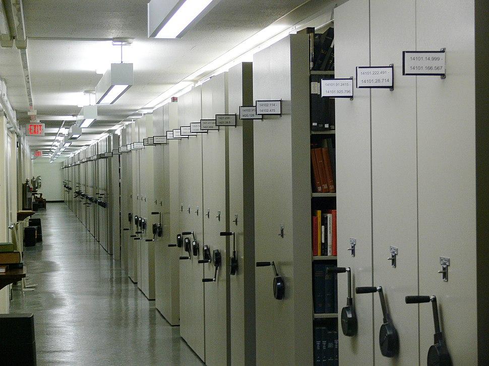 Firestone Library Princeton mobile aisle shelving