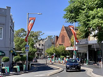 A typical inner-city street. Pictured: Paddington Fiveways, Paddington, New South Wales 02.jpg