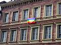 Flag peace NATO Strasbourg 2009.jpg
