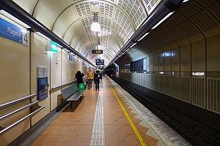 Flagstaff railway station Underground station in Melbourne, Australia