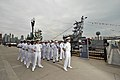 Flickr - Official U.S. Navy Imagery - Crew stands at parade rest..jpg