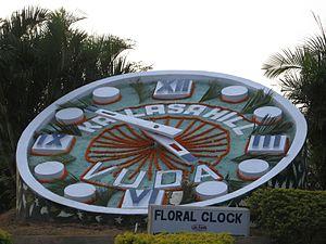 Kailasagiri - Image: Floral clock at kailash giri