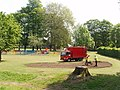 Flower bed preparation at Cowley Recreation Ground - geograph.org.uk - 809612.jpg