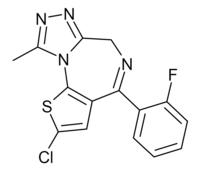 Fluclotizolam structure.png