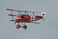 Fokker Dr.I Manfred Richthofen Pass three 08 Dawn Patrol NMUSAF 26Sept09 (14413290638).jpg