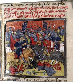 Battle of Fontenoy (841) - The battle as depicted in the fourteenth-century Grandes Chroniques de France.