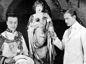 Mildred Harris - Harris in Fool's Paradise (1921) with John Davidson (left) and Conrad Nagel (right)