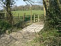Footpath, Bridleway junction and bridge - geograph.org.uk - 385662.jpg