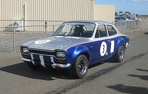 Group N Touring Cars - The Group N Ford Escort Twin Cam of Josh Axford at Mallala Motor Sport Park in 2011