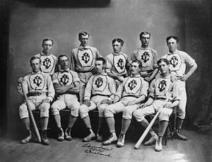 English: Members of the Forest City Baseball Club