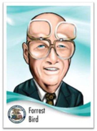 Forrest Bird - USPTO trading card featuring Bird.