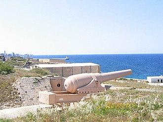 100-ton gun - Rinella gun, Malta, still on the original mount
