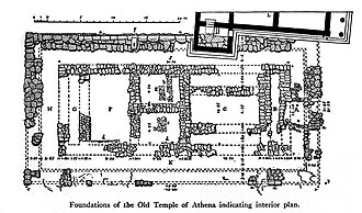Old Temple of Athena - Foundations of the Old Temple of Athena.