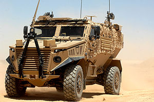 Ocelot (vehicle) - A Foxhound pictured at Camp Bastion, Afghanistan.