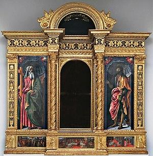 Francesco Botticini - Image: Francesco Botticini Tabernacle of the Sacramento. Empoli Museum