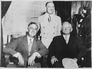 John Nance Garner - Garner with Governor Roosevelt and Kansas Governor Harry Woodring in September 1932