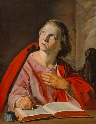 St John (Hals) - St. John, c.1625 Oil on canvas, 69.5 x 55 cm