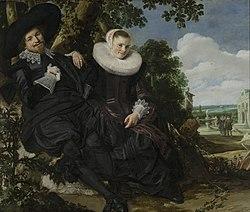 Frans Hals: Portret van een stel, waarschijnlijk Isaac Abrahamsz Massa en Beatrix van der Laen