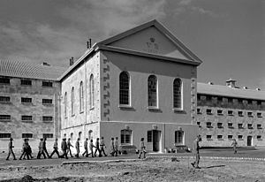 Prison slang - Image: Fremantle Prison inmates and main front Iwel jpeg convert