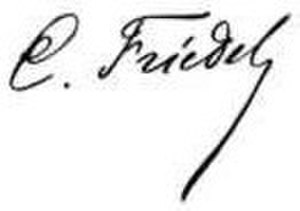 Charles Friedel - Image: Friedel Charles signature