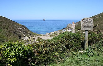 Trevellas - Image: From Trevellas Coombe to the Sea geograph.org.uk 179073