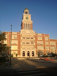 Front of East High School in Denver, 05-Sep-2012.jpg