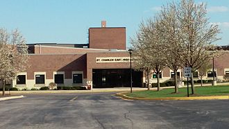 St. Charles East High School - Image: Front of STCE School