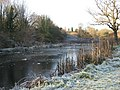 Frozen fishing pond beside the River Weaver - geograph.org.uk - 1074932.jpg
