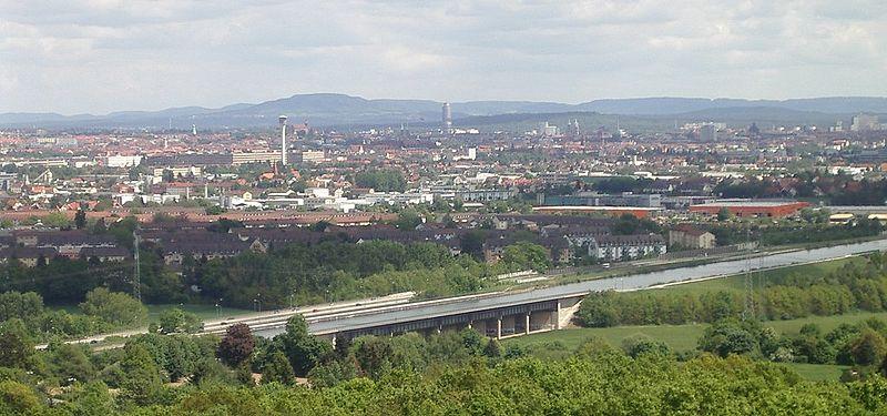 File:Fuerth Nuremberg City Langwasser from Alte Veste f w.jpg