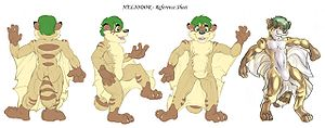 Fursuit - A reference sheet used as part of the design and built process for constructing a fursuit.