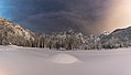 Fusine lakes and Mangart mountain on a winter night.jpg