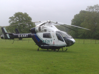 Kent Air Ambulance - Kent Air Ambulance on a sortie in neighbouring Sussex
