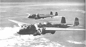 Mitsubishi G3M - Two G3M2 bombers - the nearest Model 22 and the other a Model 21