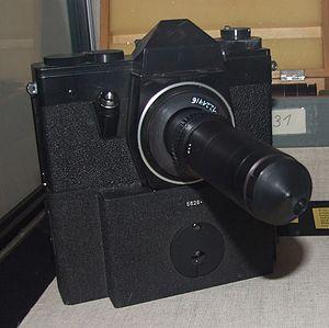 {{de|1=Kamera mit Sonderobjektiv SO-3.5.1 zum ...