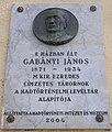 Gabányi János emléktáblája I kerület Vérmező út 10 12.JPG