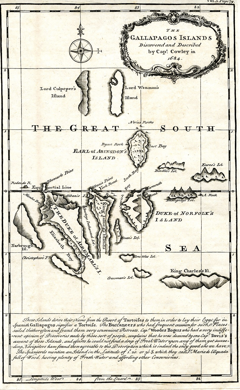 Gallapagos Islands 1684