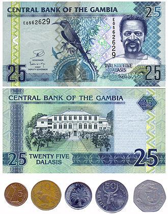 Gambian dalasi - Image: Gambia billet monedes