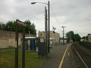 Garfield station - Garfield station as seen in June 2011 facing northward from the inbound platform.